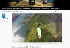 Un article sur nous sur le site rock the outdoor