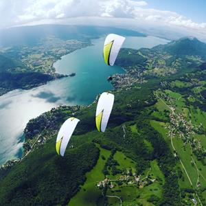 The different practices of paragliding