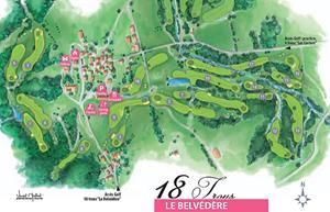plan du golf